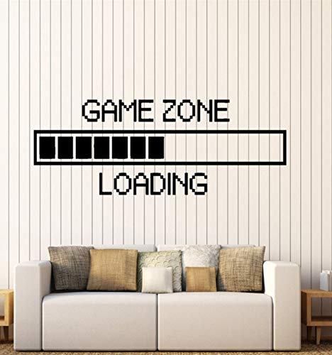 Lsfhb Spiel Zone Computer Gaming Wandaufkleber Vinyl Wandaufkleber Dekor Laden Video Spiel Wandtattoo Abnehmbare Tapete 35X89 Cm (Computer-spiele Halloween Kindergarten)