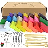 CiaraQ Argilla polimerica, 24 Colore Misto Argilla Effetto Morbido Blocchi DIY Hobby Migliore per i Bambini