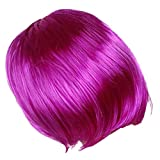 Imported New Fashion Short Punk Bob Full Wig Costume Cosplay Party Bright Violet