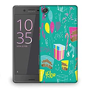 Snoogg Red Spots Pattern Designer Protective Phone Back Case Cover For Sony Xperia X Dual