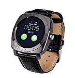 Orologi Intelligenti Best Deals - albitastore Smartwatch X3 multi-idioma Bluetooth orologio intelligente con fotocamera, TF/scheda SIM Slot Sleep Monitor/pedometro/allarme/quadro/sedentario ricordo. Smart Watch el Orologio elegante Touch Screen Compatibile con iPhone, Samsung, HTC, LG, So