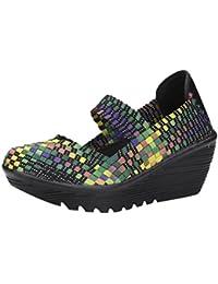 Zapatos para Mujer Otoño 2018 Zapatillas de Cuña Dama de Plataforma PAOLIAN Casual Merceditas Baratos Cómodo