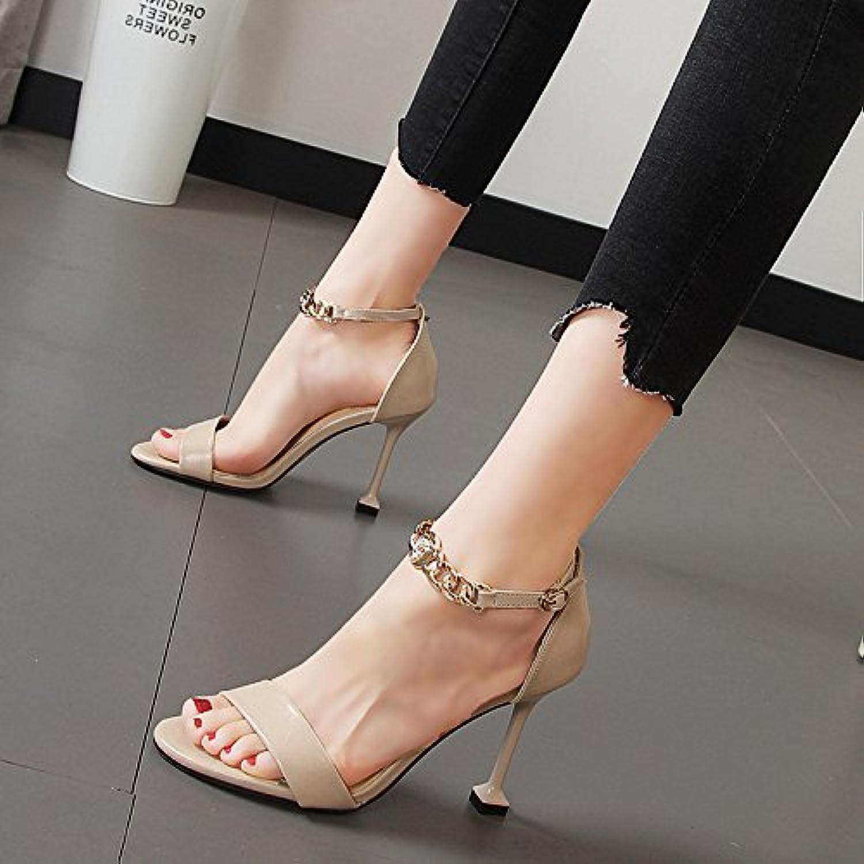 Xue Qiqi rugiada-punta a tacco alto scarpe benissimo con il lato vuoto luce di calzature donna catena di metallo... | Caratteristico  | Gentiluomo/Signora Scarpa
