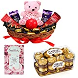 Chocolate Gift Basket With Anniversary Card