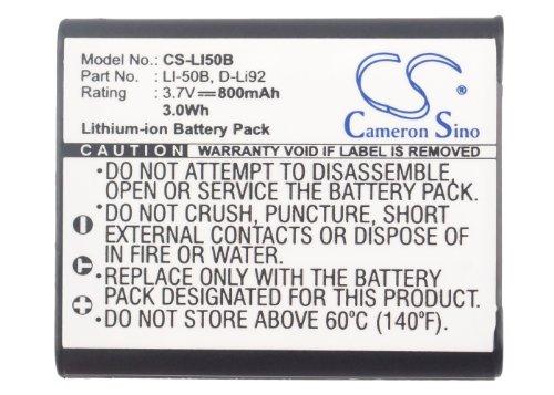 Por publicación de NL Cameron Sino 800mAh Batería GB-50,GB-50A para GE 10502 PowerFlex 3D,DV1,G100,Imaging J1470S-RD,J1470,J1470S,PJ1,Smart J1470S-SL,/ LB-052 para Kodak PixPro FZ151,FZ201,SL10,SL25,SPZ1,/DB-100,LB-050 para RICOH CX3,CX4,CX5,CX6,HZ15,PX,Theta 360,WG-2,WG-20, WG-4,WG-4 GPS,WG-5 GPS,/NP-10, NP-150 para Casio Exilim EX-TR10,EX-TR100,EX-TR10BE,EX-TR10SP,EX-TR10WE,EX-TR15,EX-TR150,EX-TR15BK,EX-TR15VP,EX-TR15WE,EX-TR200,EX-TR300,EX-TR35,EX-TR350,EX-TR350s,EX-TR500,EX-TR550,EX-TR600