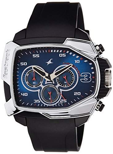 Fastrack Chronograph Blue Dial Men's Watch - 38005PP02 image