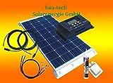 bau-tech Solarenergie 100 Watt Wohnmobil Camping Solaranlage, 12 Volt Set, PV Solarpanel Modul GmbH