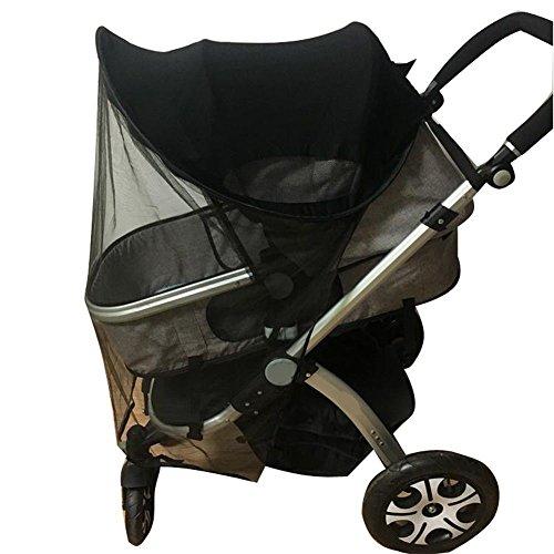 Kinderwagen Universal Sunshine Ray Shade Pram UV-Schutzabdeckung, Wetterschild, elastisches Gewebe für Infant Kids-Upgrade mit Moskitonetz (Universal Pop-up-shade)