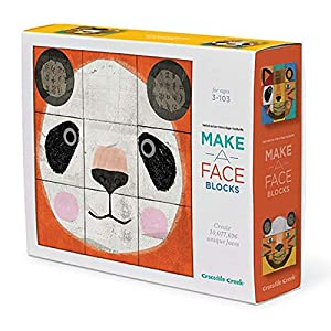 Crocodile Creek - Pelota (Make-a-Face Bloques Animal Mix & Match Bloque Juego de apilamiento, 2,5 ""