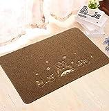 Sucastle Bagno soggiorno cucina stuoia tappetino poliestere Marrone (gatto nero) 40*60cm