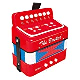 The Busker BAC10 Mini Accordéon Rouge