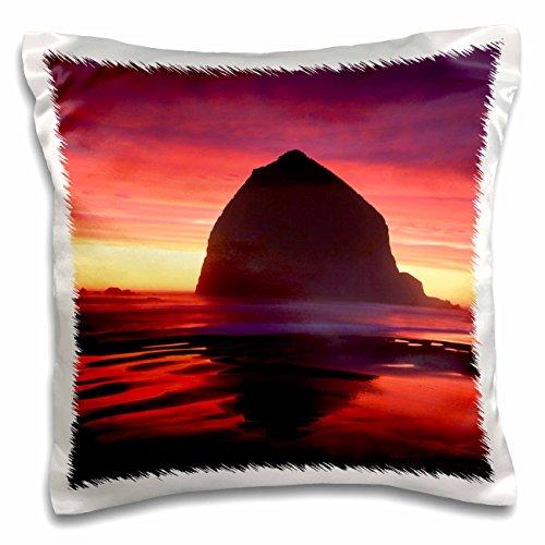 Danita Delimont - Beaches - Haystack rock, Cannon beach, Oregon, USA - US38 AJE0067 - Adam Jones - 16x16 inch Pillow Case (pc_145654_1)