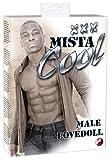 You2Toys Mista Cool XXX - auflblasbare, männliche Liebespuppe mit Penis, Anusöffnung, aufgedrucktem Gesicht und Brustbehaarung, lebensechte, dunkelhaarige Sexpuppe