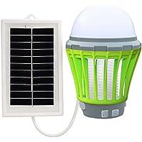 EUzeo_Repelente Ultrasónico Lámpara Anti Mosquitos Electrónica Solar/LED/UV Mosquito de la Lámpara el Mejor Segura y Eficaz Lámpara de Anti-Mosquito/Anti-Insectos con luz UV❤️EUZeo❤️ (❤️Verde)