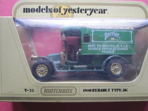1910-renault-ag-truck-green-gold-12-spokes-perrier-logo-matchbox-model-of-yesteryear-lesney-y-25-iss