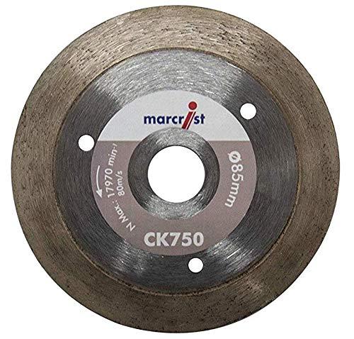 Marcrist Diamant-Trennscheibe CK750 85 x 15mm Fliese Feinsteinzeug Diamanttrennscheibe 85mm passend Makita