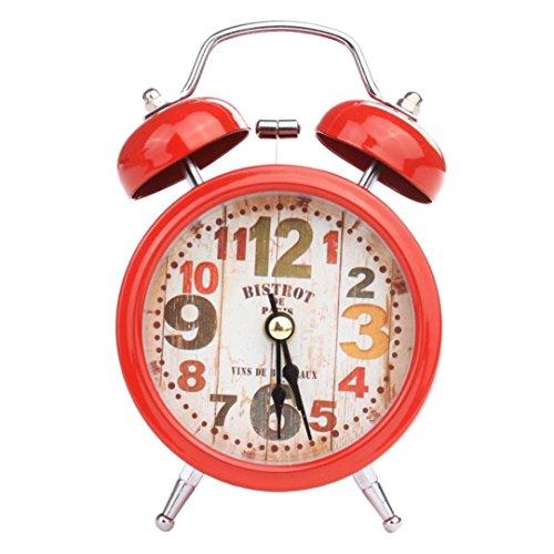 Zarupeng Kleine Uhr, Lautlos Vintage Kleines Metalluhr Kompakte Tragbar Reise Analog Quarzuhr, Keine Alarmfunktion (One Size, D)