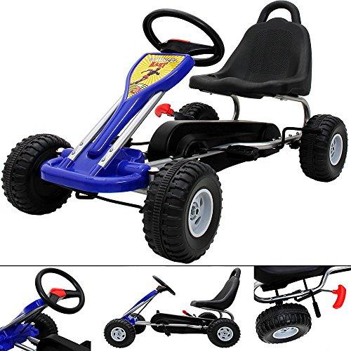 Gokart für Kinder Blau Tretauto Go Kart Tretfahrzeug
