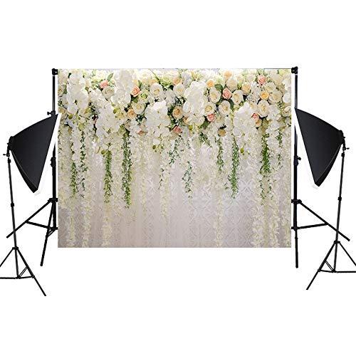 fie Hintergrundtuch 3D Rose Fotografie Hintergrund Foto Geburtstagsfeier Braut floral Wand Hintergrund Hochzeit Dessert Tisch Foto schießen Hintergrund Faltbare Vinyl Tuch ()