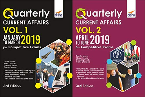 Half-Yearly Current Affairs - January to June 2019 for Competitive Exams (Set of 2 Quarterlies)