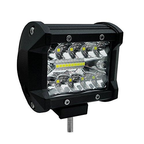 Festnight 4inch 60W LED Arbeit Licht Bar Spot Flood Combo Strahln Fahren Nebelscheinwerfer Straßenbeleuchtung für Auto LKW Jeep UTV ATV SUV Boot Marine Motorrad -
