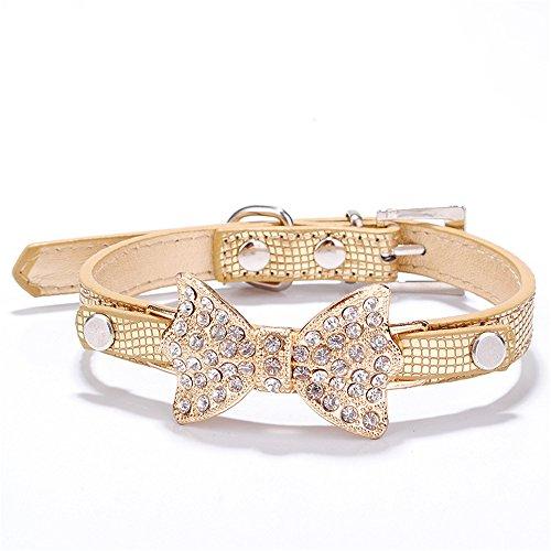 TFENG Halsband für Hunde und Katzen, Classic Einstellbare Katzenhalsband Welpen HundeHalsband