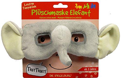 Funny Animal Parade elefante Máscara de felpa, 22x 8cm, modelo # 12232