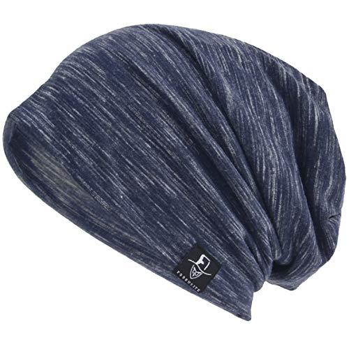 VECRY Herren Slouch Hollow Mütze Thin Sommer Cap Strickmützen Beanie Skullcap (Multi-Blau) (Männer-beanie-mütze)