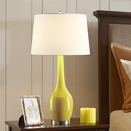 Modische moderne Tischlampe Keramik-Technologie Schlafzimmer Nachttischlampe kreative Schreibtisch Dekoration Schreibtisch Lampen Keramik-Technologie, gelb (Gelb Moderne Keramik-tischlampe)