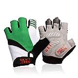 Meetlocks Radsport Handschuhe mit Gel-Einlage, Fahrradhandschuhe für Rennrad, Mountainbike, Atmungsaktive Mikrofaser, Lycra-stoff für Radfahren, geeignet für Damen und Jugendliche