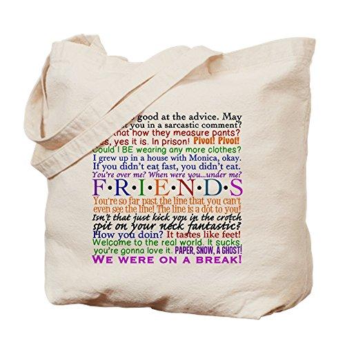CafePress–Friends TV-Zitate–natürliche Canvas Tote Bag, Tuch, mit Tasche Tote S khaki (Lustige Zitate Tv)