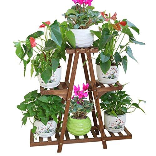 Porte Plante Antisepsis En Bois Fleur Racks Multicouche Pots De Sol Étagères Bonsai Terrasse Balcon Salon Intérieur/Extérieur Fleur Verte Fleur Racks Étagères à fleurs (taille : 76 * 22 * 76CM)