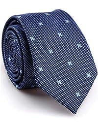 SALLYDREAM Corbata de Seda para Hombre Casual Corbata y pajarita Para Fiesta Para los Negocios