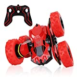 Picture Of Aandyou RC Remote Control Off-Road Vehicle Racing, High Speed 360° Rotating Stunt, Flipping Double-Side Driving Cars Toys for Kids Boys Girls Children, Red