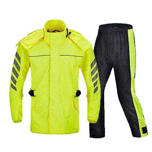HGXC WY Motorradreit Regenmantel Set Split reflektierende Regenmantel Erwachsene Männer draussen (Farbe : Green, größe : XL)