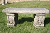 Heavy and Solid Superb Stone Cast Garden Bench