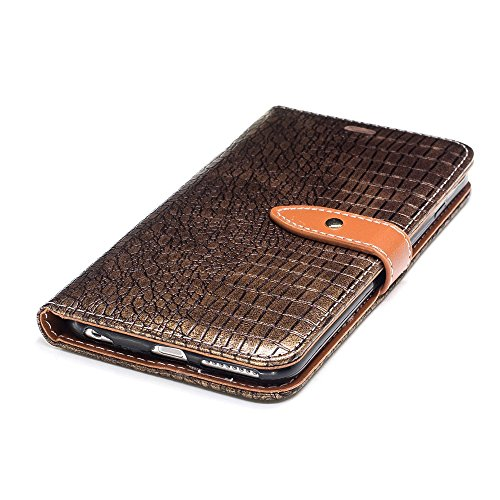 """MOONCASE iPhone 6/iPhone 6s Hülle, Weich PU Leder mit Standfunktion Handysocken Built-in Card Holster Folio Brieftasche Case für iPhone 6/iPhone 6s 4.7"""" Golden Golden"""