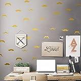 LangToo Die ursprünglichen nordischen Stil liebevoll Bart home Dekoration Zimmer an der Wand freundlich abnehmbar, blonde Dumb Blonde,