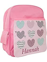 Mochila de niña, la escuela mochila, personalizable, corazones Pastel mochila, Rosa Niñas Mochila Escolar Infantil, escuela bolsa, bolsas de escuela primaria