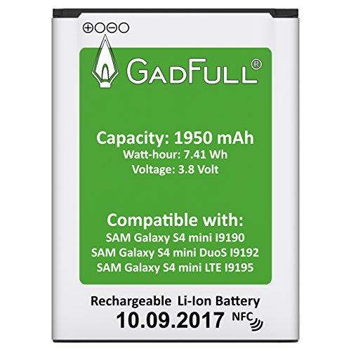 GadFull Akku für Samsung Galaxy S4 Mini | 2017 Baujahr | Wie B500BE | Galaxy S4 Mini i9190 | Galaxy S4 Mini Dual Sim i9192 | Galaxy S4 Mini LTE i9195 | Batterie Accu Battery Galaxy