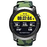 Nuovo colore Smart Watch GPS Pressione Varietà di Sport Mode Card Call frequenza cardiaca Sport Watch Outdoor, Riding (Colore : Camouflage)