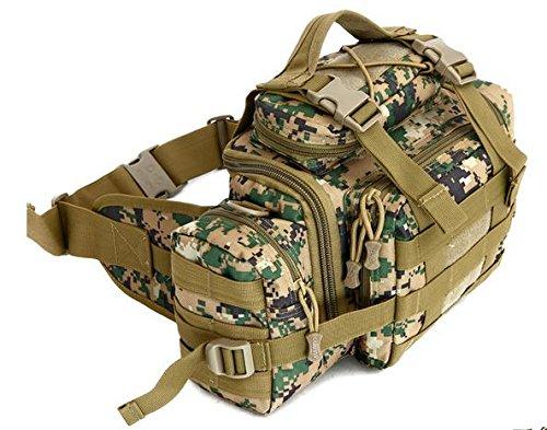 Zll/Armee Fan Outdoor Tasche Tactical Brust Tasche Taille Tasche Messenger Bag Herren 3P Magic Kamera Tasche mit Riding Big Taschen Jungle-Grün