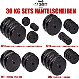 C.P. Sports Hantelscheiben 30 KG SET verschiedene Hantelscheiben 30mm Hantelscheibe, Bumper Plates wahlweise 2x5KG+ 2x10KG | 4x2,5KG+ 4x5KG | 8x1,25KG+ 4x2,5KG+ 2x5KG | 4x0,5KG+ 2x1,25+ 2x2,5KG+ 4x5KG
