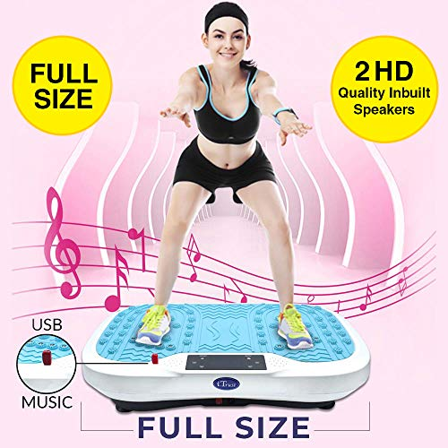 Power Vibration Plate Exercise Massager Fitness Slimming Full Body Shaper Weight Loss Machine With RUNNING, JOGGING & WALK MODE
