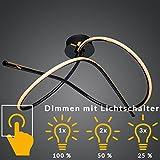 LED Design Deckenleuchte Dimmbar | Warmweiß | Hingucker | Groß | XL | L = 85cm | Küchen Decken Lampe | Wohnzimmer | Designleuchte | Deckenlampe | Schlafzimmer | Modern