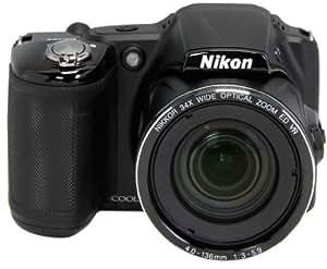 Nikon Coolpix L830 Fotocamera Digitale Compatta, 16 Megapixel, Zoom 34X, 3200 ISO max, LCD Basculante RGBW da 7,5cm, Filmati Full HD, Leva dello Zoom Laterale, Processore EXPEED C2, Nero [Nital card: 4 anni di garanzia]