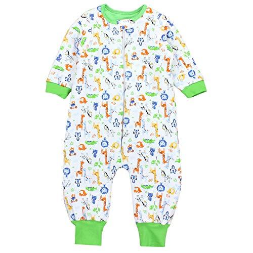 TupTam Baby Unisex Schlafsack mit Beinen und Ärmel Winter, Farbe: Safari Grün, Größe: 80-86