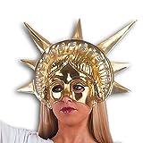Semi máscara dorada Estatua de la Libertad