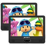 Pumpkin 12' DVD Portátil Coche 2 Pantallas, Reproductor para Reposacabezas de Coche para Niños en Viaje soporta USB/SD/CD, Región Libre, con Control Remoto