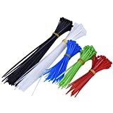 eBoot Cable Ataduras Alambre, 250 Piezas, 5 Colores